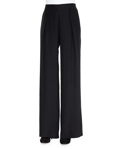 Rocco Wide-Leg Silk Pants