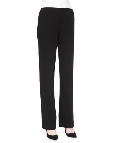 Cabo Knit Straight-Leg Pants, Petite