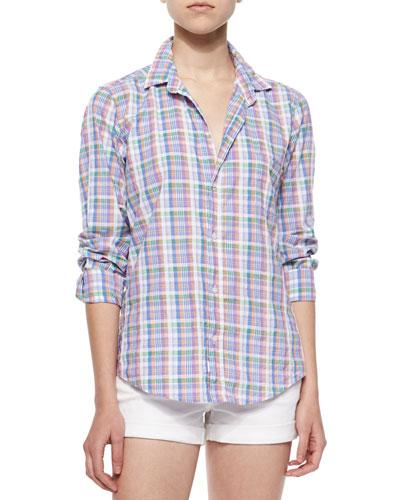 Barry Long-Sleeve Plaid Cotton Shirt, Multicolor
