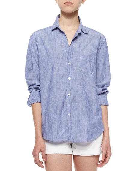 Eileen Long-Sleeve Cotton Shirt, Blue