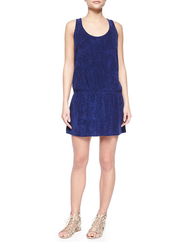 Sleeveless Terry Cloth with Crisscross Back, Navy