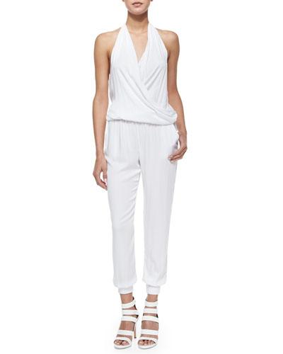 Adrianna Halter Jumpsuit, White