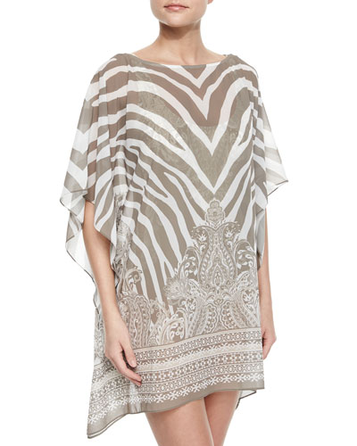 Coast Garden Printed Tunic Coverup