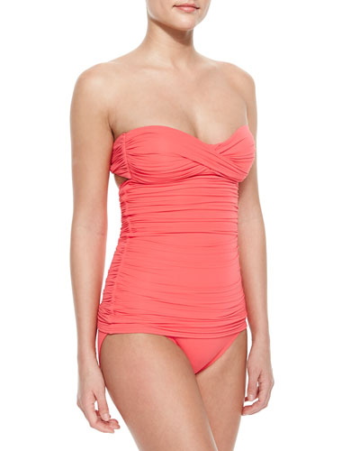 Ruched Bandeau Swimdress