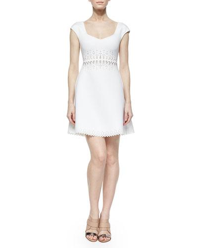 Laser-Cut A-Line Dress
