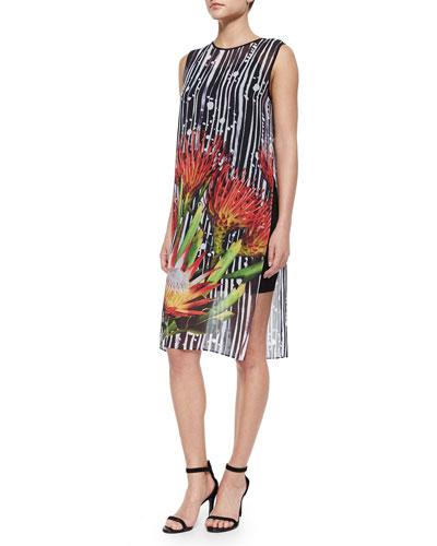 Brushstroke Bloom Sleeveless Dress
