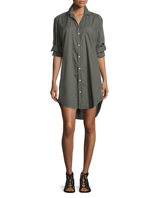 Frank Eileen Mary Long Sleeve Shirtdress Neiman Marcus