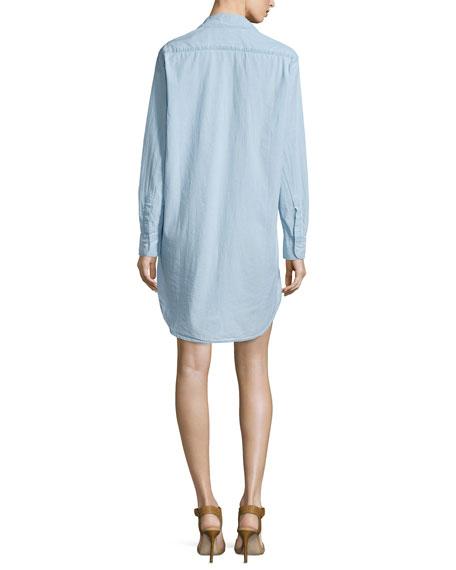 Mary Denim Shirtdress, Indigo