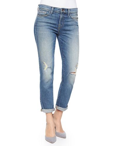 Georgia Mid-Rise Slim Boyfriend Jeans, Keeper