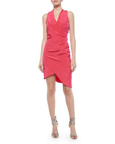 Stephanie Sleeveless Ruched Asymmetric Cocktail Dress