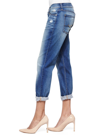 Josefina Cropped Jeans, Distressed Authentic