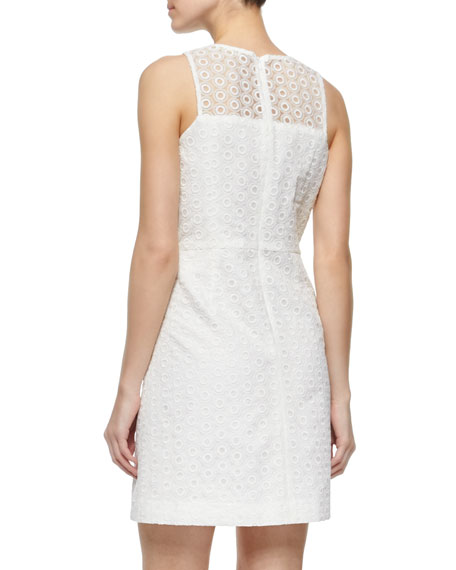Jasmine Circle Embroidered Fit & Flare Dress