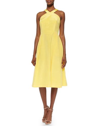 Gilda Halter Tea Length Dress