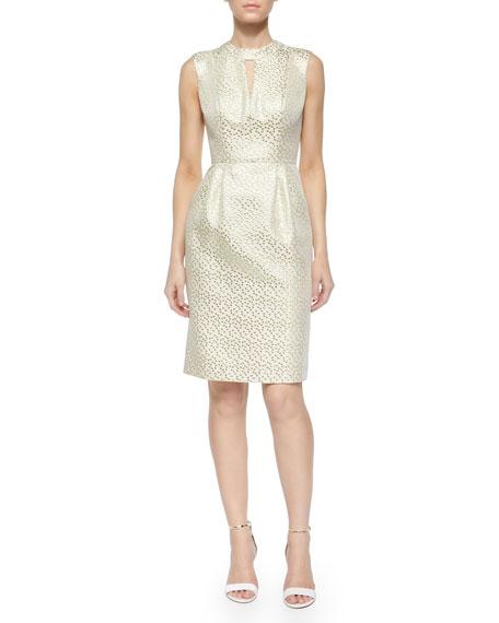 Shoshanna Laurie Metallic Jacquard Sheath Dress