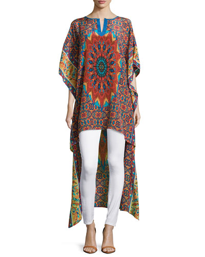 Mandira High-Low Printed Caftan Tunic, Women