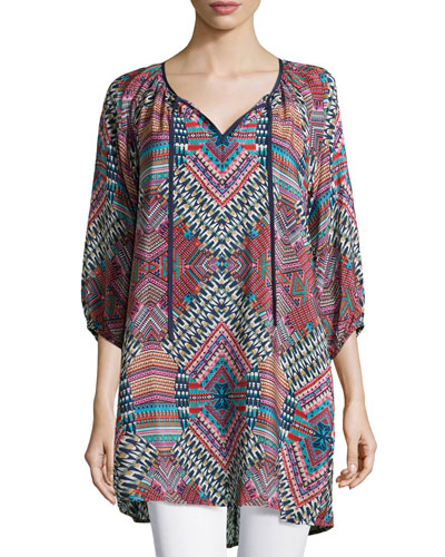 Jenny Geometric Printed Tunic, Women