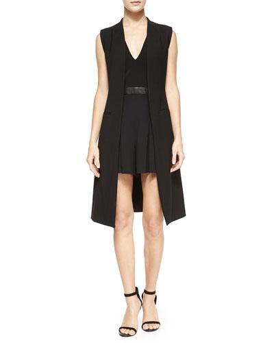 Slim Tailored Vest, Black