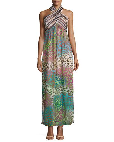 Solaris Animal-Print Maxi Dress