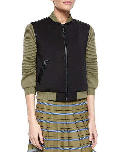 3/4-Sleeve Colorblock Jacket