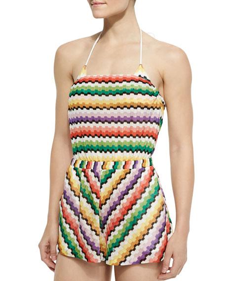 Tuta Honeycomb Zigzag-Knit Jumpsuit