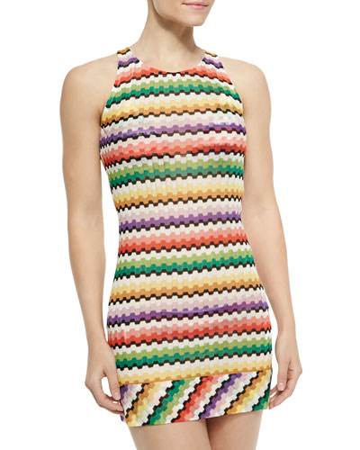 Copricost Honeycomb Zigzag-Knit Cover Up