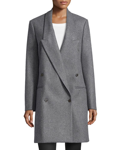 Double-Breasted Long-Lapel Coat, Banker