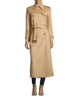 Double-Breasted Trench Coat, Fawn