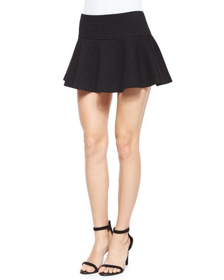 Alice + OliviaDrop-Waist Flared Mini Skirt, Black