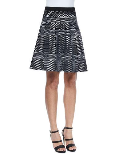 Mixed Diamond Flared Skirt