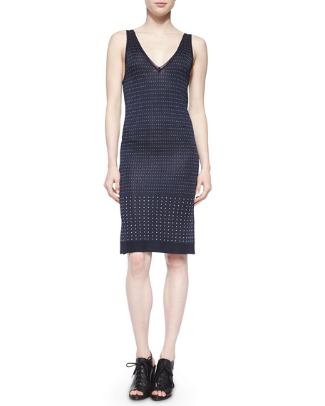 Rag & Bone Abigale Dot-Knit Body-Conscious Dress