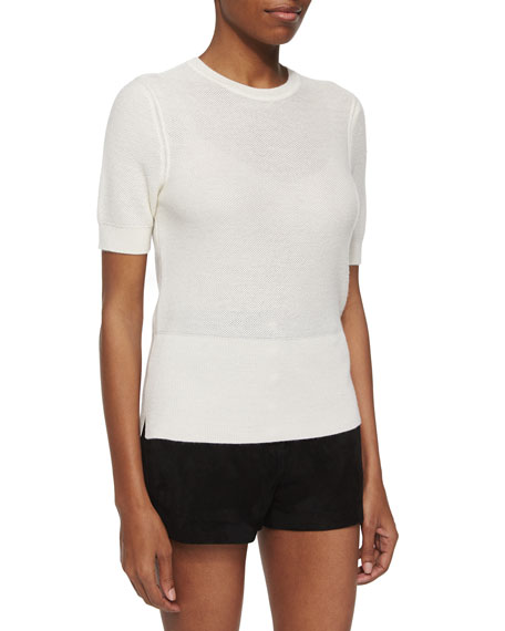 Rag & Bone Whitney Short-Sleeve Cashmere Top