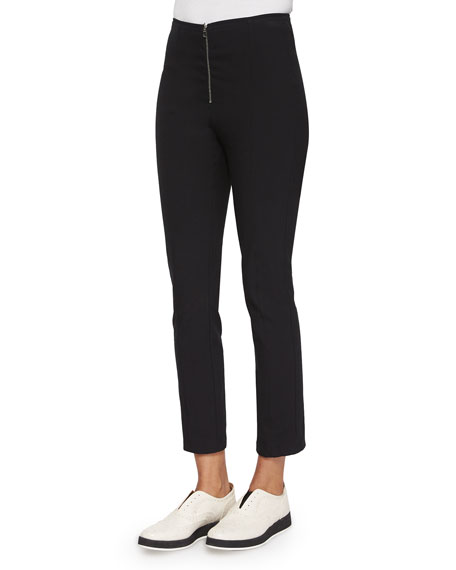 Perry Slim Ankle Pants, Black