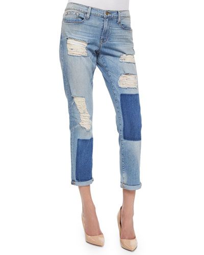 Le Garcon Distressed Ankle Jeans, Redlands