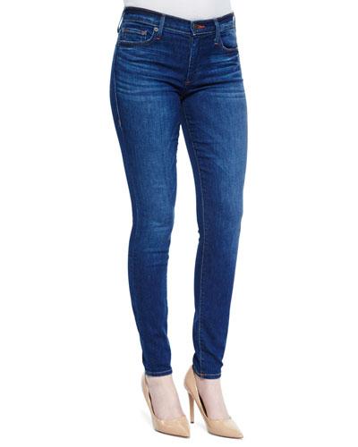 Halle Mid-Rise Skinny Jeans, Crystal Springs