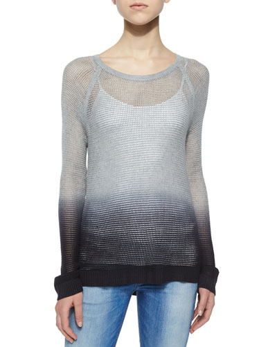 Odette Ombre Pullover Sweater, Gray
