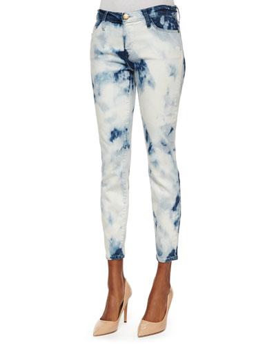 The Stiletto Ankle Jeans, Indigo Summer Tie Dye