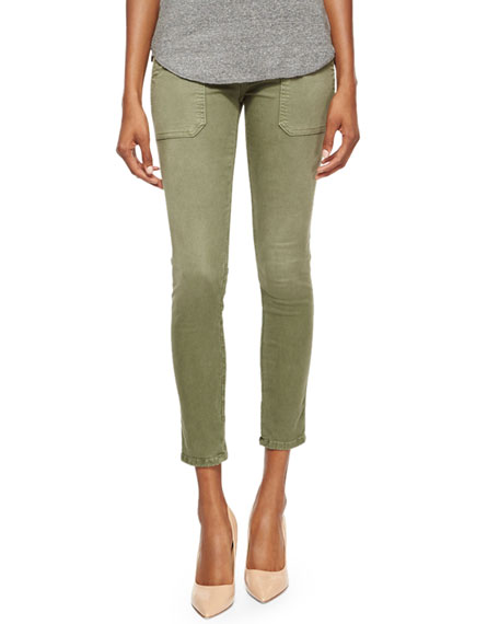Current/Elliott The Conductor Ankle Jeans, Army Green