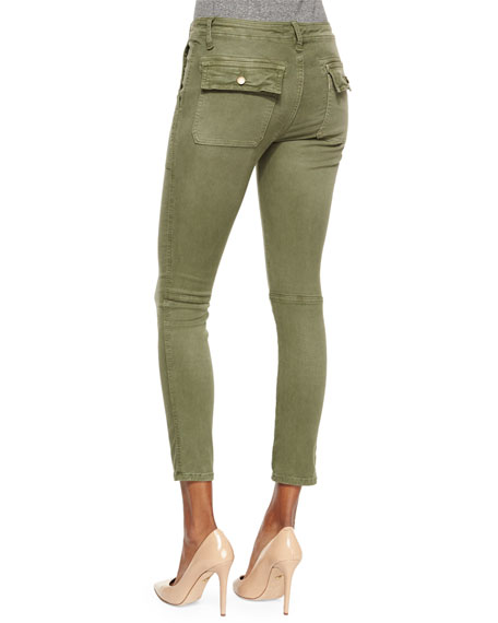 The Conductor Ankle Jeans, Army Green