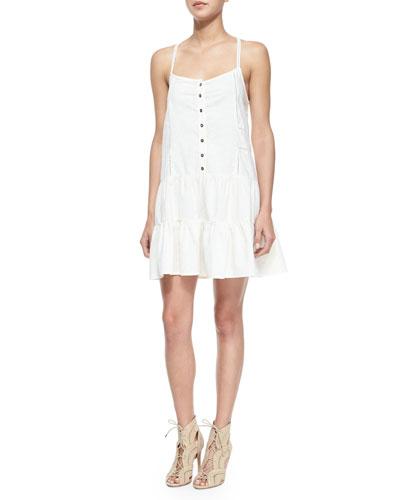 The Florence Poplin Dress, Dirty White