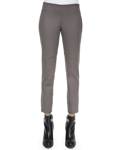 Seamed Zip-Cuff Leggings, Graphite