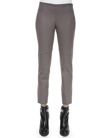 Brunello CucinelliSeamed Zip-Cuff Leggings, Graphite