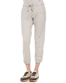 Cashmere Drawstring Sweatpants, Dove