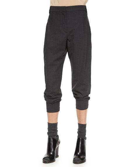 Brunello Cucinelli Wool Single-Pleat Cropped Pants