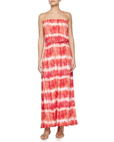 Angletta Tie-Dye Strapless Maxi Dress
