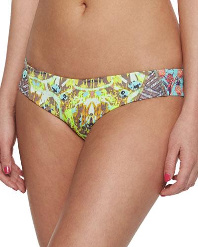 Pineapple-Printed Reversible Swim Bottom, Multi