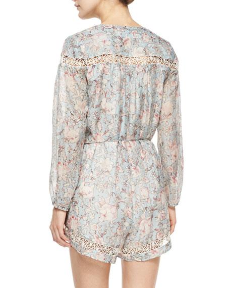 Gemma Folk Floral-Print Jumpsuit