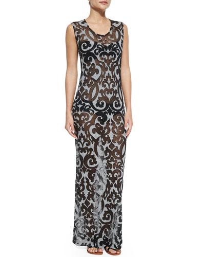 Printed Coverup Maxi Dress