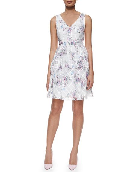 Penelope Floral-Print Fit & Flare Dress