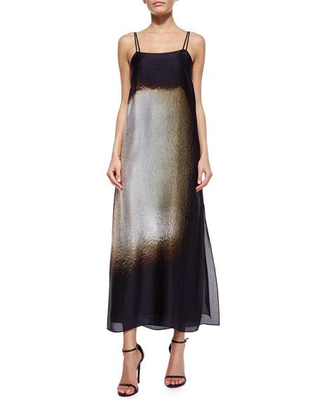 Halston Heritage Double-Strap Long Slip Dress