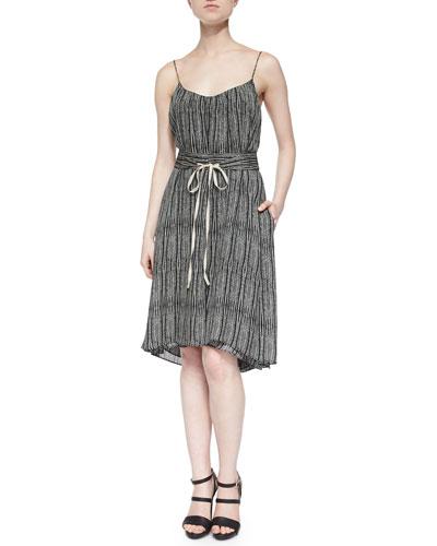 Cobra Tie-Waist Dress